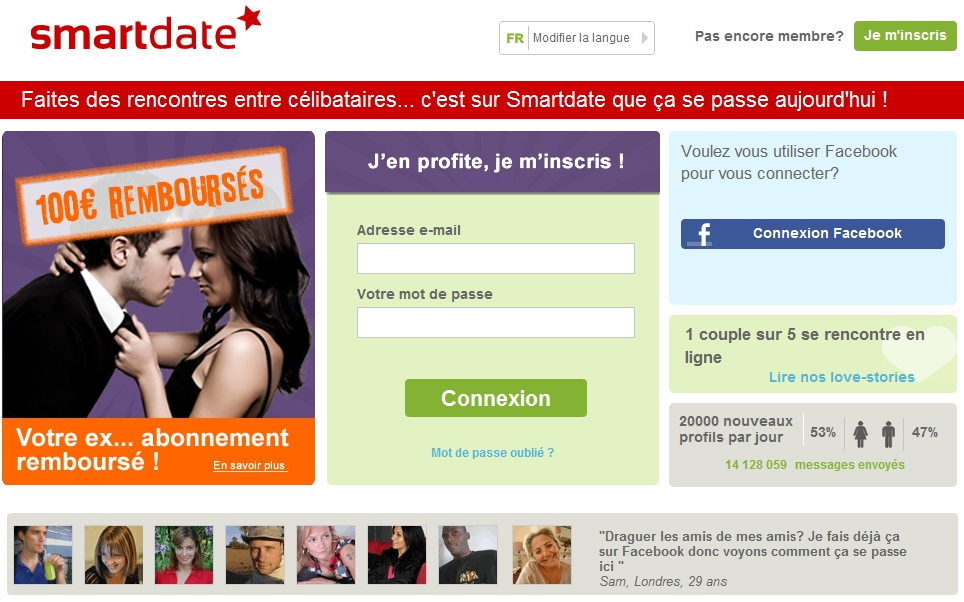 Professionnels des affaires des sites de rencontre